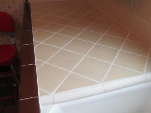 how to clean kitchen counter tile grout lines