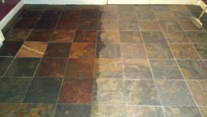 Sealing A Slate Floor Stoddard Tile Work Diary