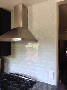 Kitchen Backsplash With Glass Subway Tiles Stoddard Tile
