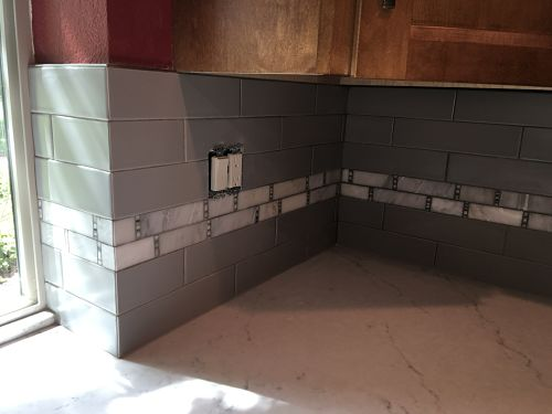 Edging for tile backsplash