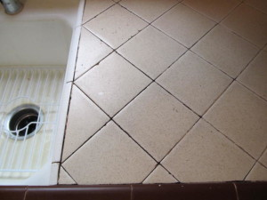 how to clean kitchen counter tile grout kitchen counter grout cleaning stoddard tile work diary 9343